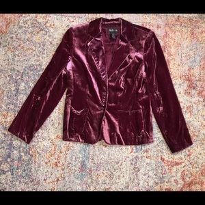 Raspberry Velvet  Blazer (6)